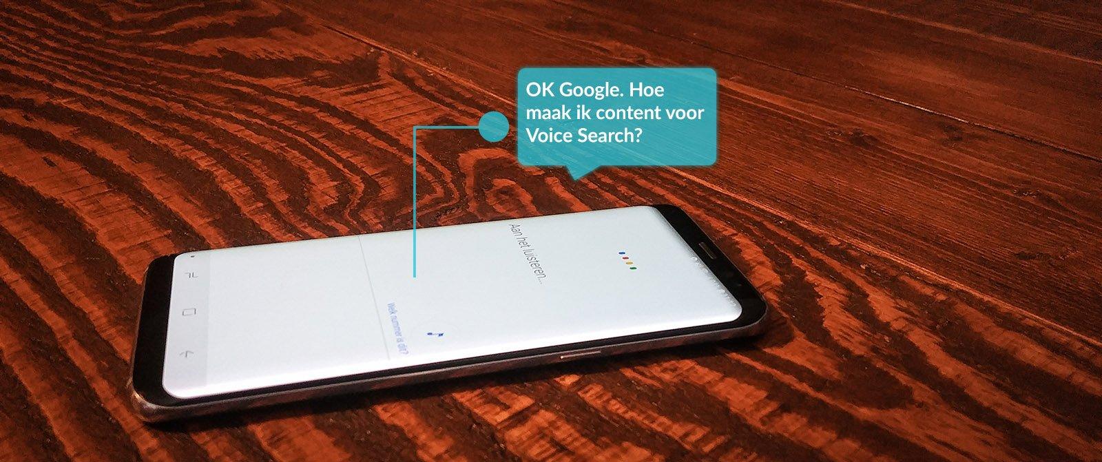 hoe maak ik content voor voice search - google