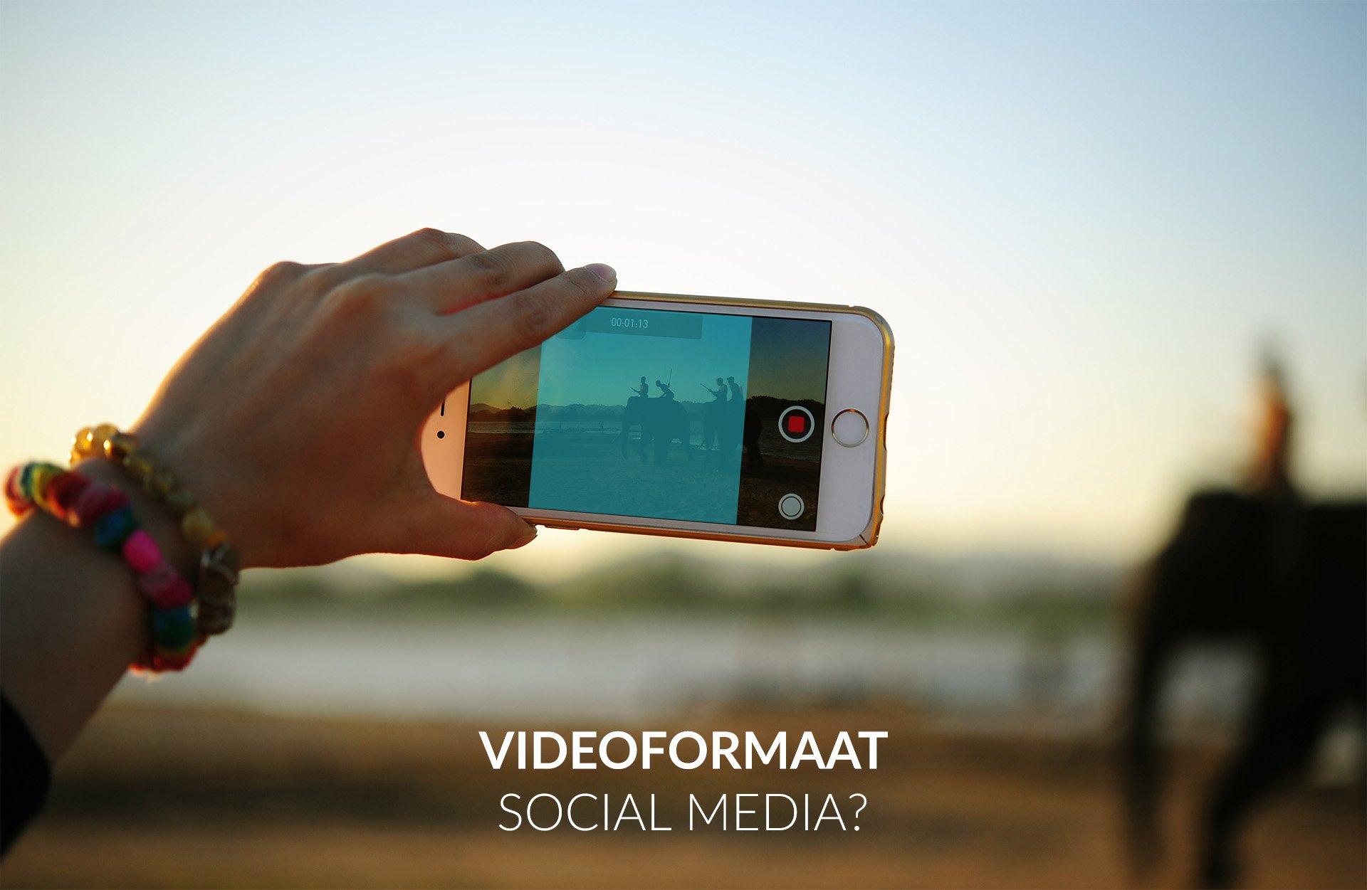 videoformaat voor social media