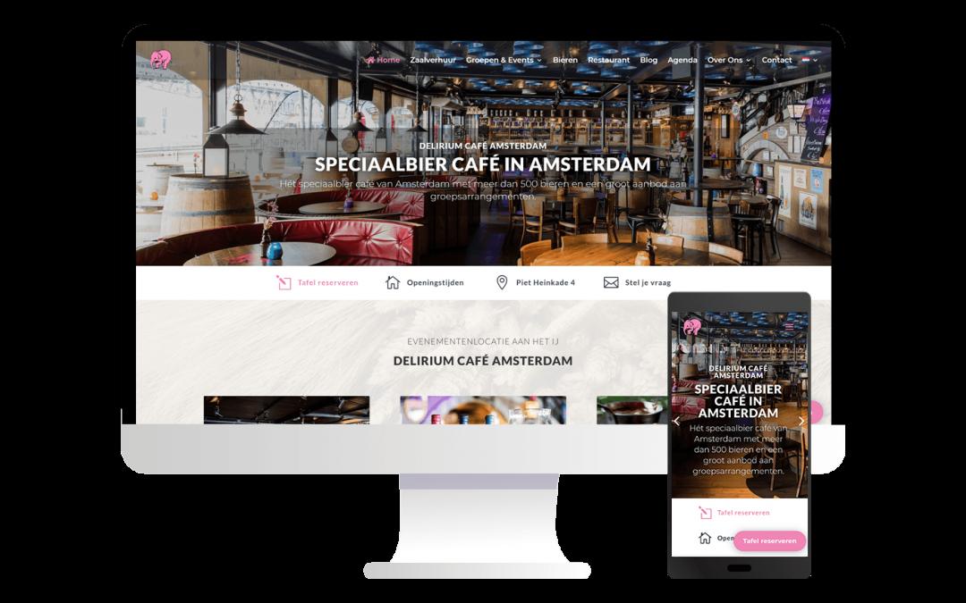 Nieuwe website voor Delirium Café Amsterdam