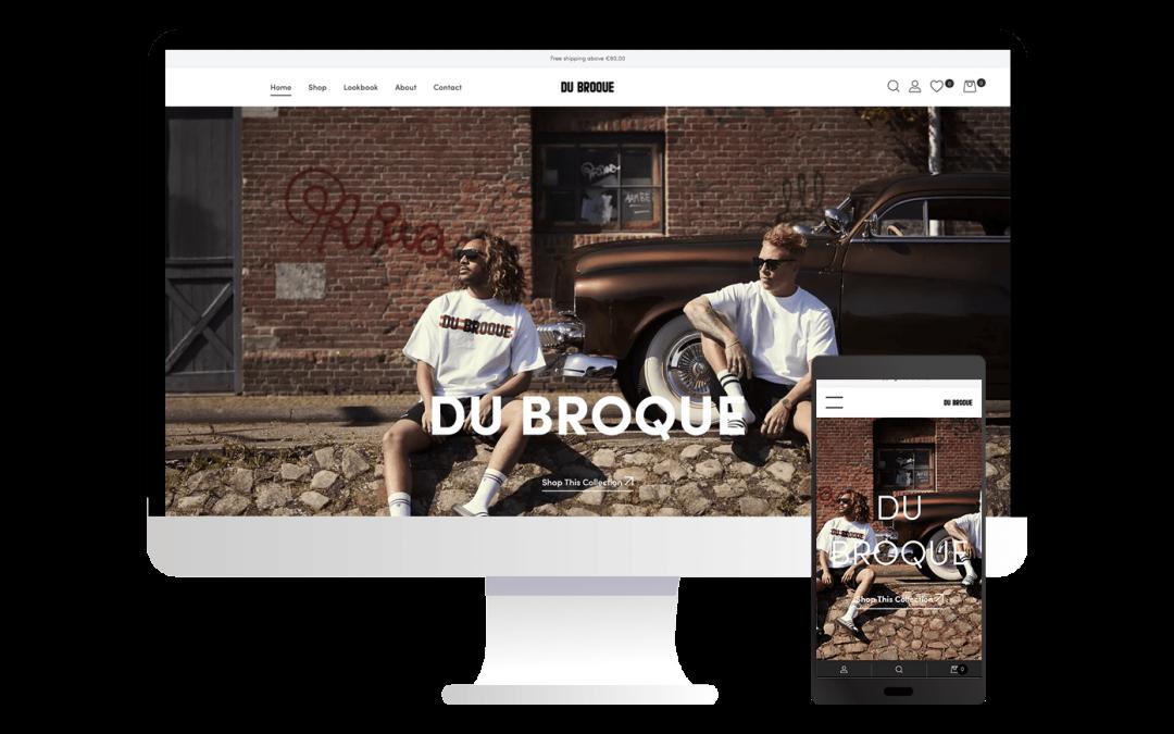 Nieuwe webshop voor Du Broque Streetwear